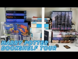 HARRY POTTER BOOKSHELF TOUR
