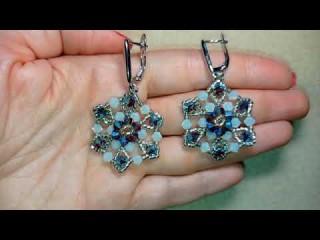 DIY Crystal Flower Earrings - Precioca Forest Box - Fast Clips
